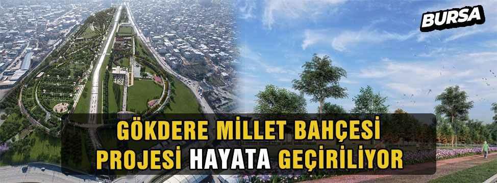 Bursa'da Gökdere Millet Bahçesi'nde çalışmalar hızlandı