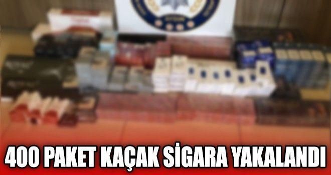 400 Paket Kaçak Sigara Yakalandı