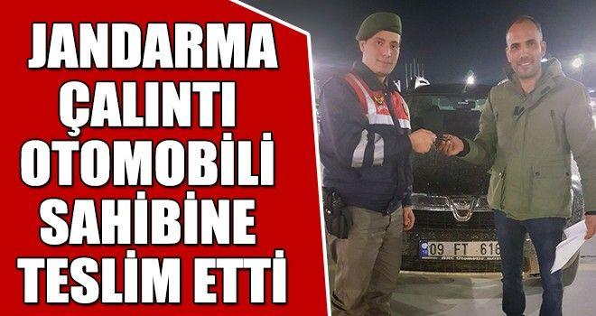 Jandarma, Çalıntı Otomobili Sahibine Teslim Etti