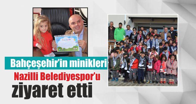Bahçeşehir'in minikleri, Nazilli Belediyespor'u ziyaret etti
