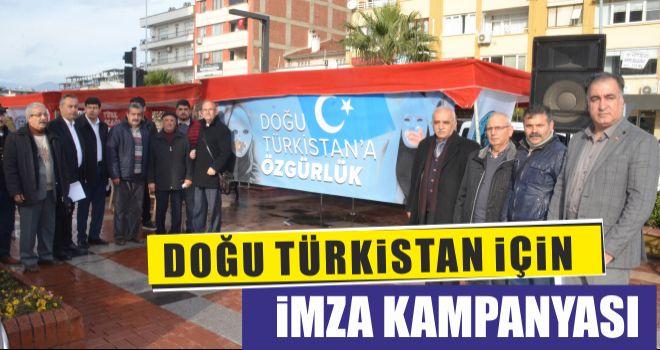 Doğu Türkistan için imza kampanyası