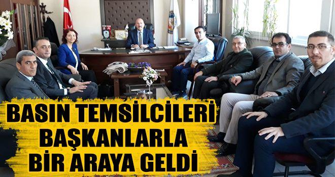 Basın temsilcileri başkanlarla bir araya geldi