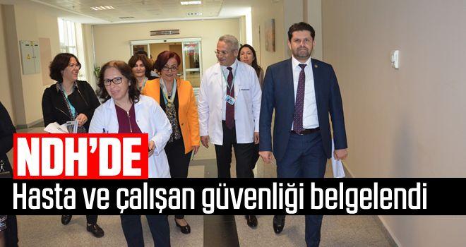 NDH'de hasta ve çalışan güvenliği belgelendi