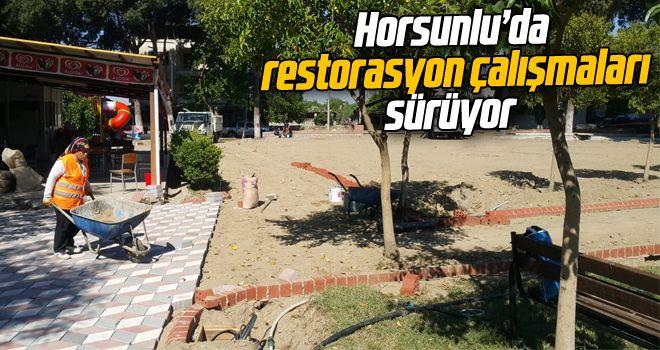 Horsunlu'da restorasyon çalışmaları sürüyor