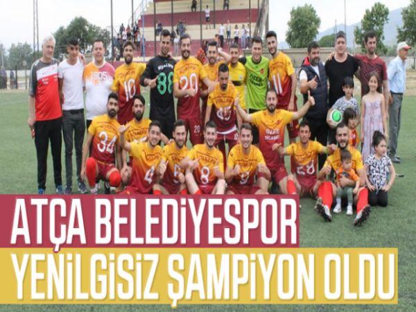 Atça Belediyespor, yenilgisiz şampiyon oldu