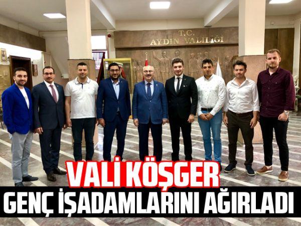 Vali Köşger, genç işadamlarını ağırladı