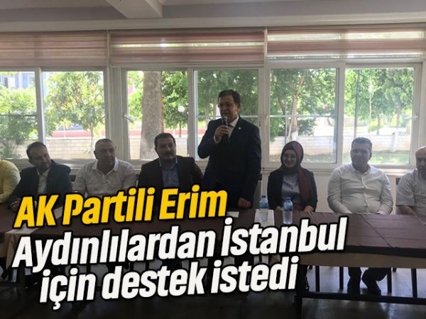 AK Partili Erim, Aydınlılardan İstanbul için destek istedi