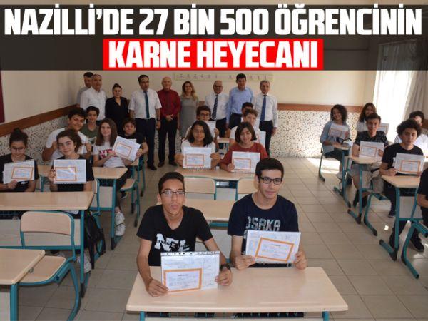 Nazilli'de 27 bin 500 öğrencinin karne heyecanı