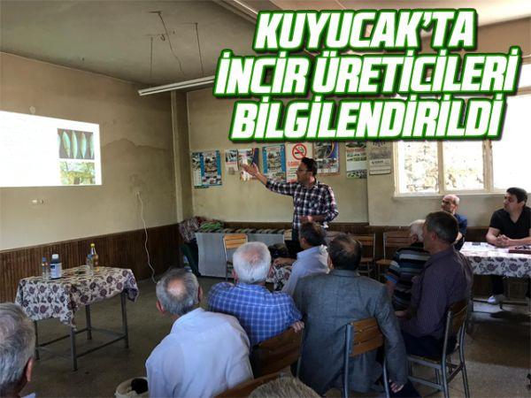 Kuyucak'ta incir üreticileri bilgilendirildi