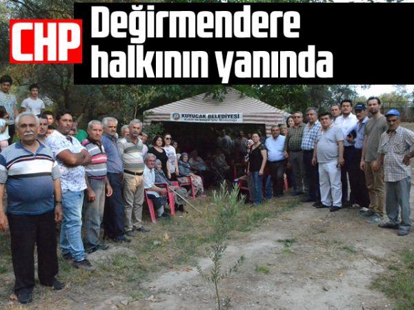 CHP, Değirmendere halkının yanında