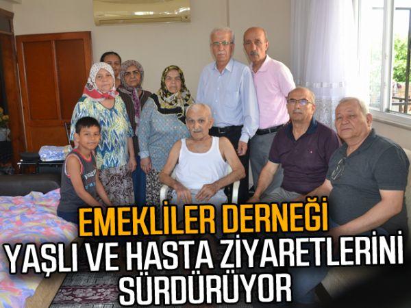 Emekliler derneği yaşlı ve hasta ziyaretlerini sürdürüyor