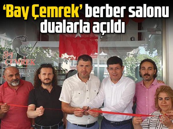 'Bay Çemrek' berber salonu dualarla açıldı