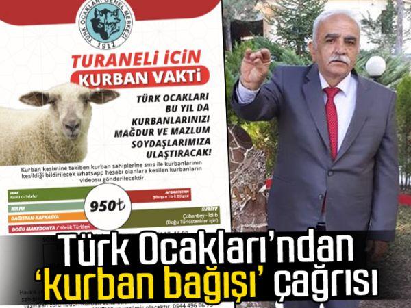 Türk Ocakları'ndan 'kurban bağışı' çağrısı