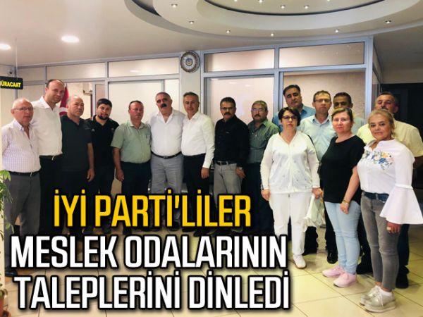 İYİ Parti'liler meslek odalarının taleplerini dinledi
