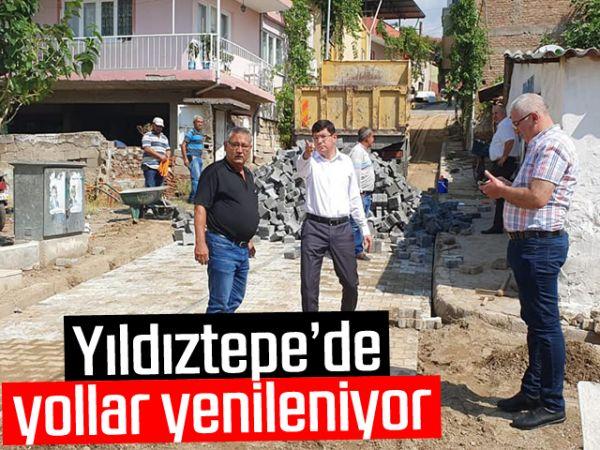 Yıldıztepe'de yollar yenileniyor