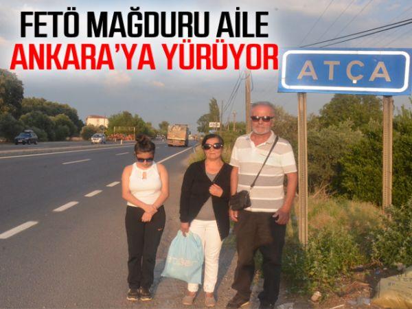 FETÖ mağduru aile Ankara'ya yürüyor