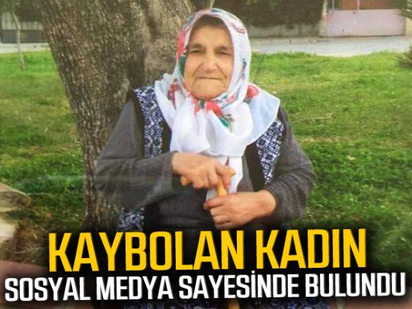 Kaybolan kadın sosyal medya sayesinde bulundu