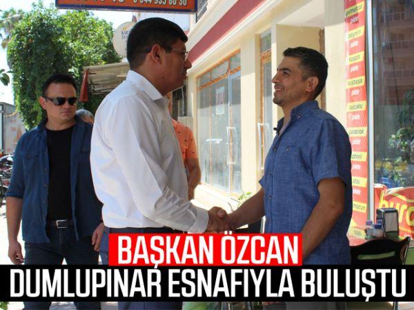 Başkan Özcan, Dumlupınar esnafıyla buluştu