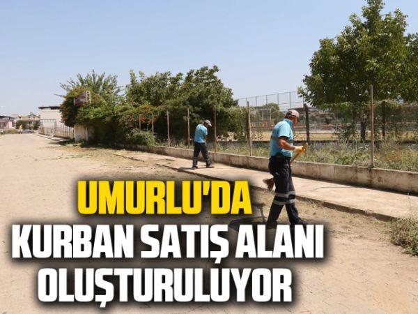Umurlu'da kurban satış alanı oluşturuluyor