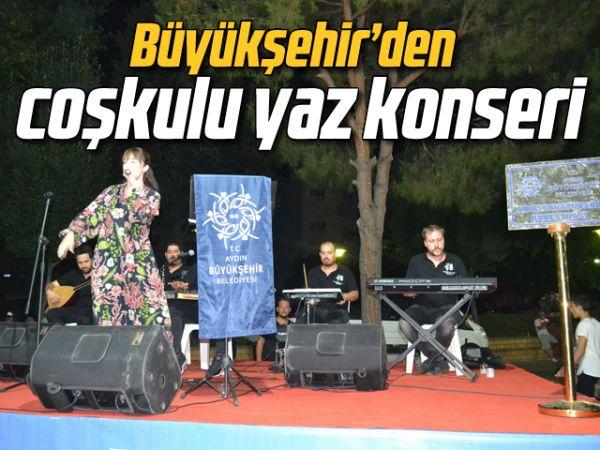 Büyükşehir'den coşkulu yaz konseri
