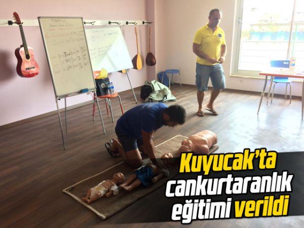 Kuyucak'ta cankurtaranlık eğitimi verildi