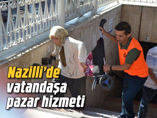 Nazilli'de vatandaşa pazar hizmeti
