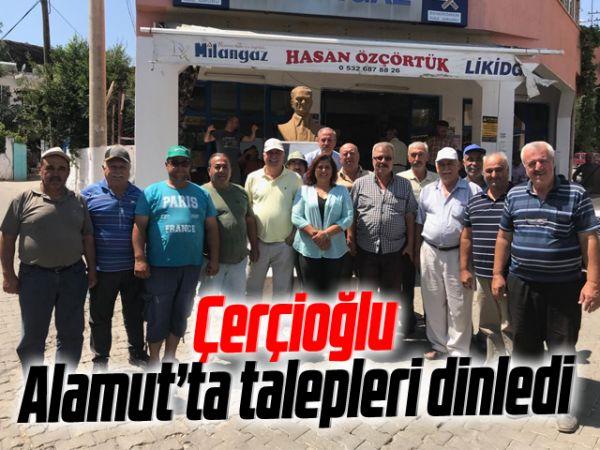 Çerçioğlu, Alamut'ta talepleri dinledi