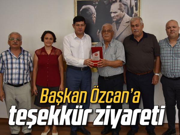 Başkan Özcan'a teşekkür ziyareti