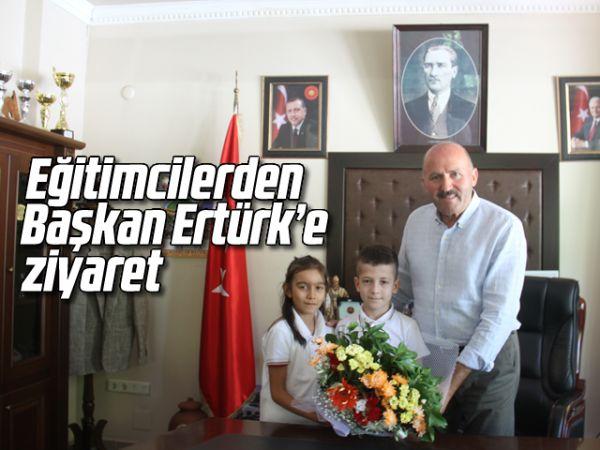 Eğitimcilerden Başkan Ertürk'e ziyaret