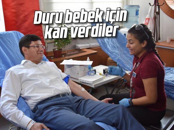 Duru bebek için kan verdiler