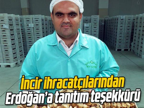 İncir ihracatçılarından Erdoğan'a tanıtım teşekkürü