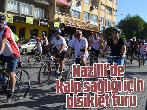 Nazilli'de kalp sağlığı için bisiklet turu