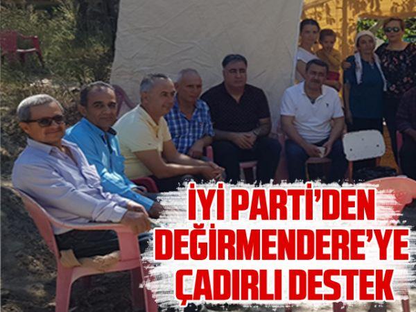 İYİ Parti'den Değirmendere'ye çadırlı destek