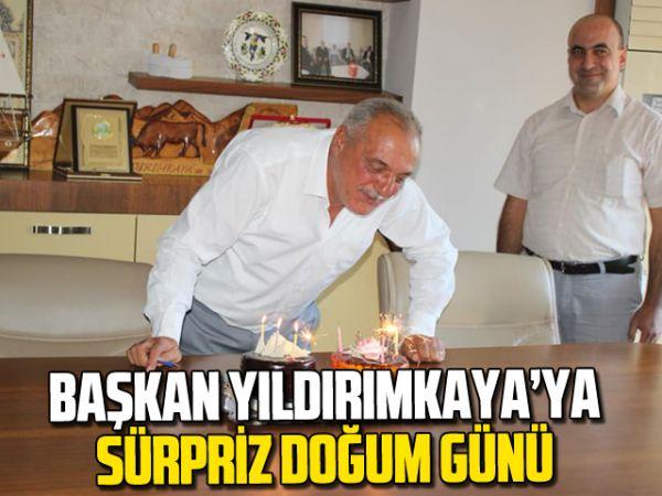 Başkan Yıldırımkaya'ya sürpriz doğum günü