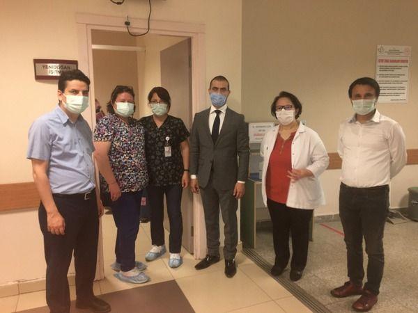 Nazilli Devlet Hastanesi personeli bayramlaştı