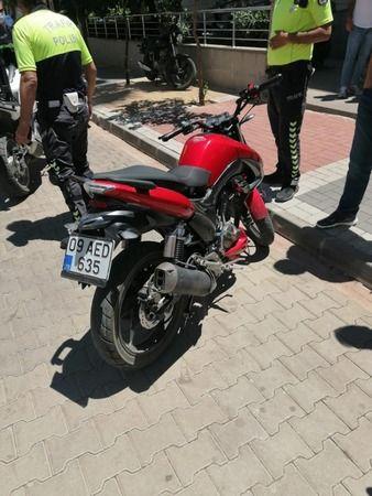 Kaçan motosiklette uyuşturucu ele geçirildi