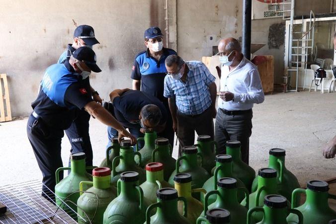 Nazilli'de zabıta ekipleri kaçak yağa geçit vermedi