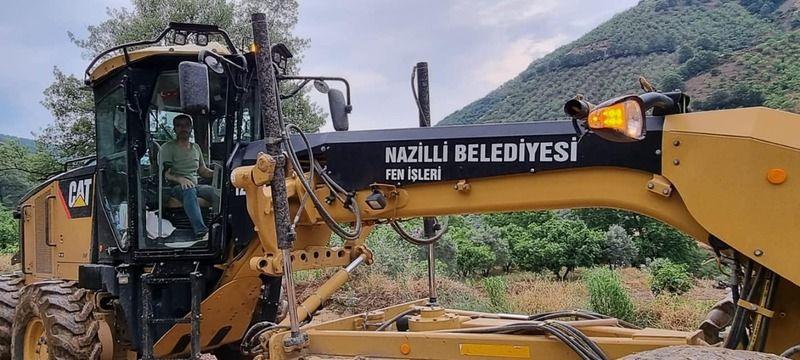 Nazilli'de sel zarara neden oldu