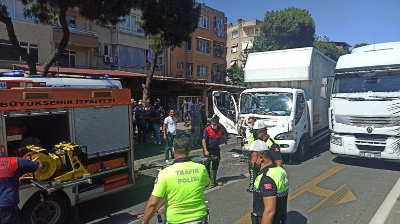 Nazilli'de sıkışmalı kaza: 1 yaralı