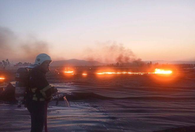 Aydın BŞB itfaiyesi yangınlara anında müdahale etti