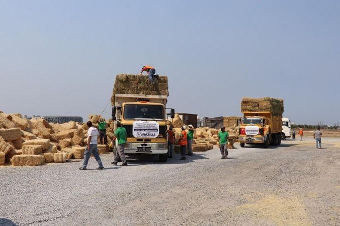 Nazilli'den toplanan yardımlar Manavgat'a ulaştı