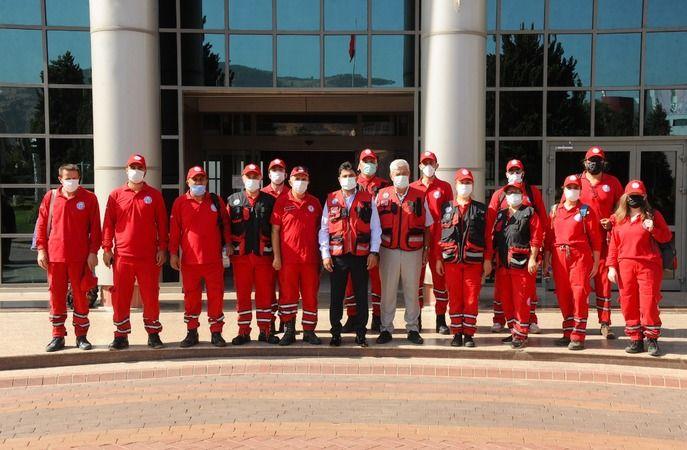 ADÜ Arama Kurtarma Ekibi, yangın bölgesinde destek sağlıyor