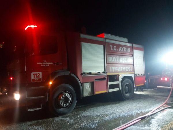 Büyükşehir İtfaiyesi'nden Bozdoğan'daki yangına müdahale