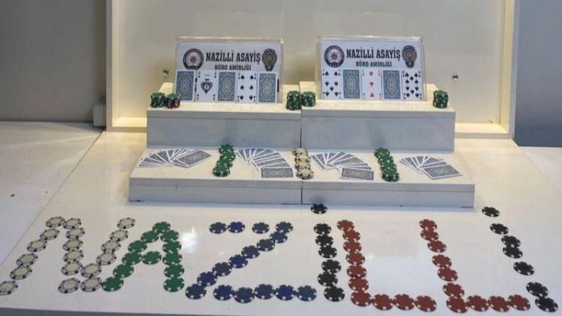 Nazilli'de kahvehaneye kumar baskını