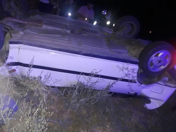 Takla atan araçtan sürücü yaralı kurtuldu