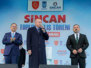 Cumhurbaşkanı Recep Tayyip Erdoğan Sincan'da toplu açılış törenlerine katıldı
