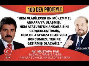 """BTP: """"Ankara, Türkiye'nin lokomotifi olacak"""""""