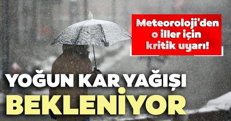 İç Anadolu Bölgesi'ndeki 4 ilde yoğun kar yağışı bekleniyor