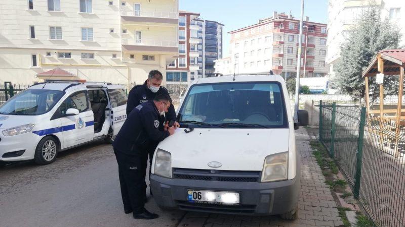 Kahramankazan Belediyesi Zabıta Ekibleri Kaldırım İşgaline Savaşı Sürüyor