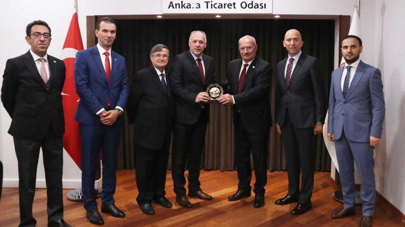 Kosova Bölgesel Kalkınma Bakanı Damka ATO Başkanı Baran'ı Ziyaret Etti